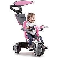 FEBER - Baby Plus Music Pink, Triciclo Rosa para niños y niñas de 9 Meses a 3 años (Famosa 800012132)