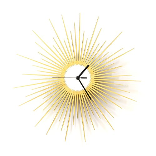 The Big Bang - 16' stylish wooden wall clock with glistening...