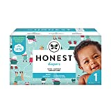 The Honest Company Club Box Diapers with Trueabsorb Technology, Ice Ice Baby, Size 1, 80 Count