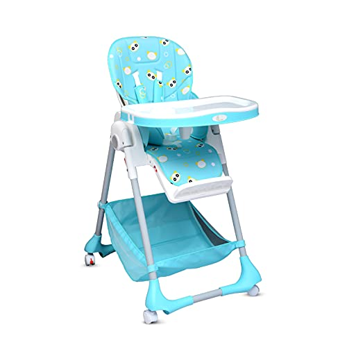 R for Rabbit Marshmallow High Chair for Baby, Multiple Recline Position High Chair with 7 Level Height Adjustment and 3-Recline Modes with Adjustable Footrest, 6 Months to 5 Years (Green)
