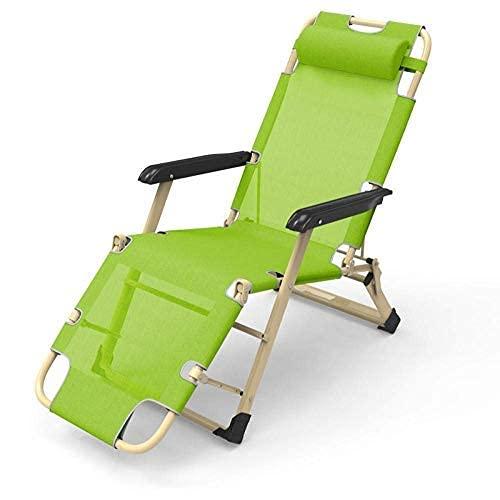 YVX Sillas de Patio reclinables para Personas Pesadas, Tumbona Plegable, Tumbona con colchón, Reposacabezas móvil, Aluminio a Prueba de óxido, Transpirable, Cómodo, Carga reclinable 160 Kg-Azul