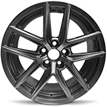 Road Ready Car Wheel For 2014-2015 Lexus IS250 2014-2017 Lexus IS350 18 Inch 5 Lug Hyper Black Aluminum Rim Fits R18 Tire - Exact OEM Replacement - Full-Size Spare