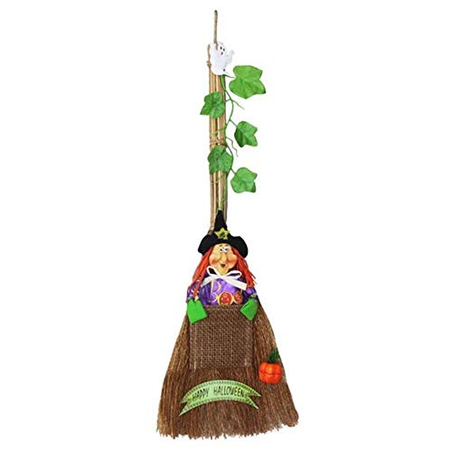Kreative Halloween Dress Up Hexenbesen Hexe Besen Zauberer Dekor Weihnachtsfest Haus Baum hängen