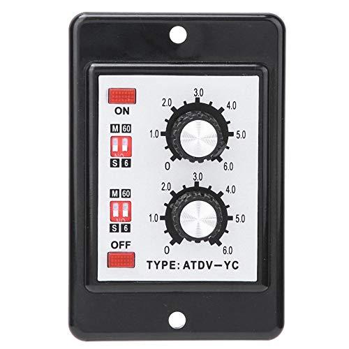 Pangding tijdrelais dubbelrelais aan/uit-tijdschakelaar besturing draaiknop dubbele timer ATDV-YC 6S-60M