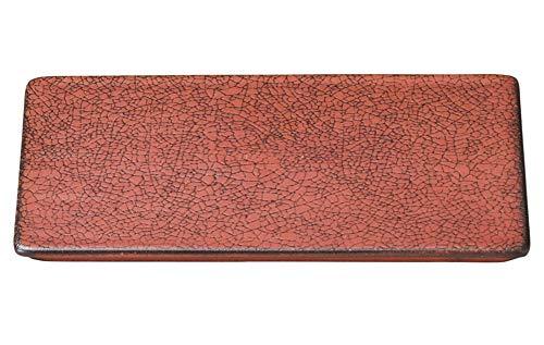柿赤 17cm平長角皿 [ 17 x 10 x 1cm ] [ 長角皿 ] | 飲食店 和食 旅館 料亭 ホテル 業務用