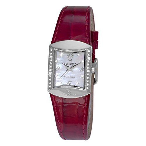 Christina London Damen Analog Quarz Uhr mit Leder Armband 126SWR