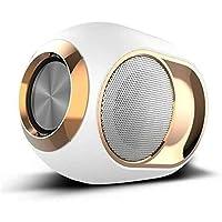 Golden Egg Bluetoothスピーカー、ポータブルハイエンドワイヤレススピーカー、108 DBステレオBluetoothスピーカー、ミニBluetoothプレーヤー、スーパーベーススピーカー (白い)