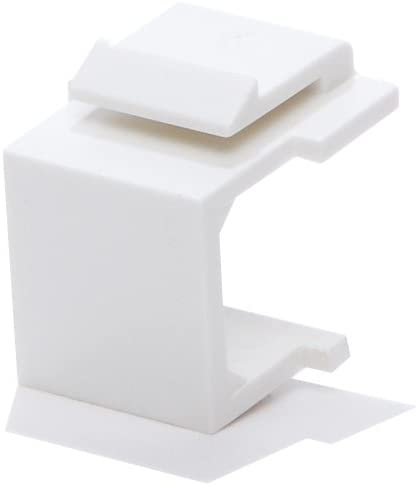 LOGICO 10pcs Snap-in Keystone Blank for Plate San Jose Mall Insert Max 88% OFF Wall White