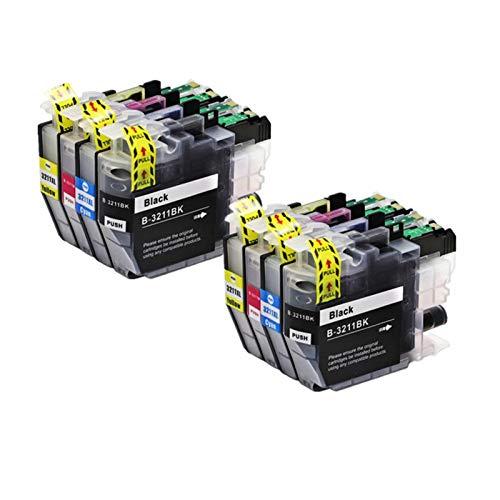 GOUJI Liupin Store Cartucho de Tinta Compatible Fit for Brother LC3211 LC3213 en Forma for Brother DCP-J772DW, DCP-J774DW, MFC-J890DW, MFC-J895DW Impresora Fácil de Instalar y Conveniente.