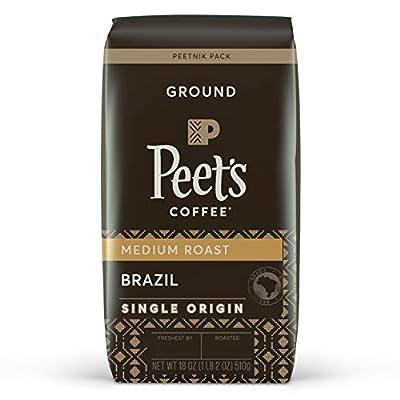 Peet's Coffee Single Origin Brazil, Medium Roast Ground Coffee, 18 Ounce