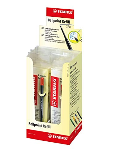 Kugelschreiber - Großraummine - STABILO Ballpoint Refill - 10er Pack - rot