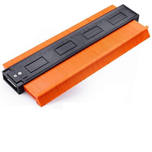 Konturenlehre Profillehre Konturmessgerät Duplikator 10 inch/25cm Holz Markierungswerkzeug, Multifunktionales Messwerkzeug mit Skala Unregelmäßiges für Kunststoffkanäle,Kreisrahmen