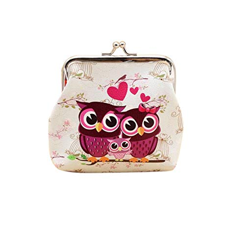 Billetera de mujer Lady Girl Retro Coin Phone Bag Monedero Tarjeta de crédito Funda Bolso Vintage Owl Cartera de cuero Hasp Clutch Bag
