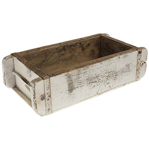 MACOSA DJ28188-010 - Caja decorativa de madera maciza (32 x