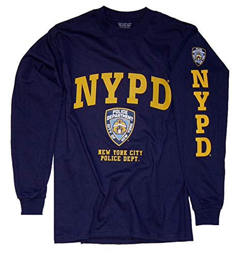 NYPD Shirt T-Shirt Long Sleeve T-Shirt Apparel Officially Licensed Merchandise Large