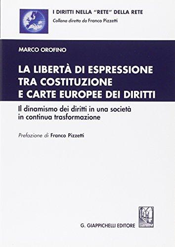 La libertà di espressione tra Costituzione e Carte europee dei diritti. Il dinamismo dei diritti in una società in continua trasformazione