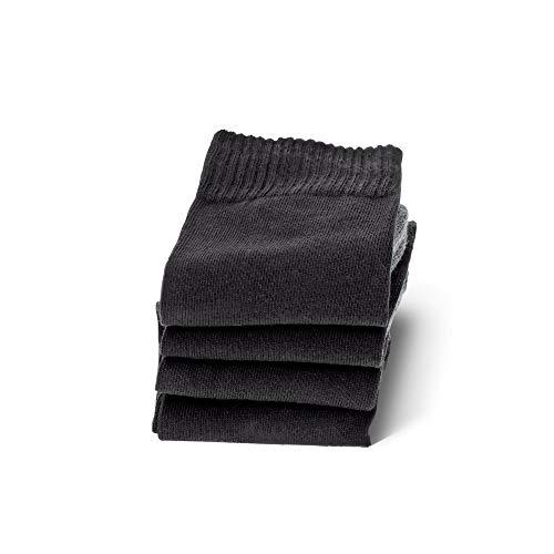 Camano Herren 5942 Sport Socks 4 Paar Sportsocken, Schwarz (black 05), (Herstellergröße: 43/46) (4er Pack)