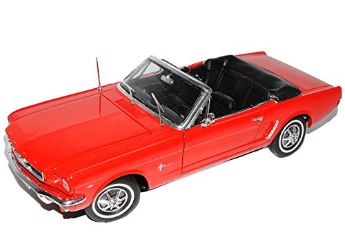 Auch gut in der Leistung Welly Car 1:18 1964 Ford Mustang Cabrio Rot
