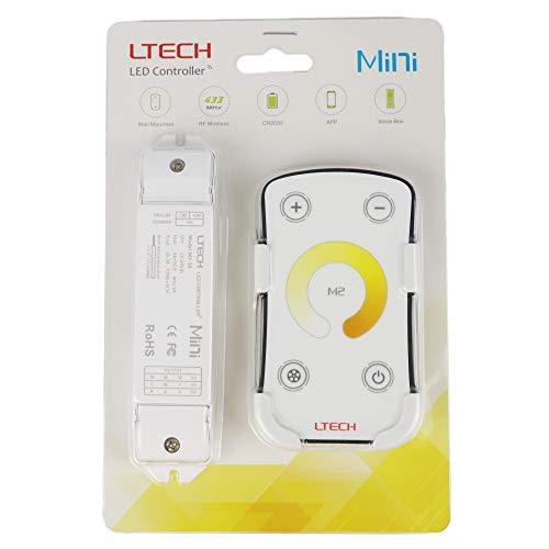 LTRGBW M2 LED Controller Dimmer Farbtemperatur Einstellbare Dimming CT Steuerung Bicolor Wei? 3000K - 6500K 5050 3528 Streifen Klebeband-Licht (5 Jahre Garantie)