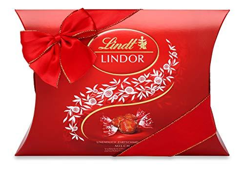 Lindt LINDOR Kissenpackung Vollmilch, Schokoladengeschenk, ca. 25 LINDOR Kugeln, 325g