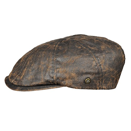 Lakota Schiebermütze Sportmütze 8-Panal Flatcap braun Herrenmütze (58)