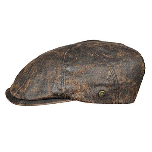 Lakota Schiebermütze Sportmütze 8-Panal Flatcap braun Herrenmütze (60)
