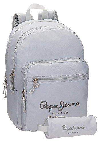 Pepe Jeans 66824A0 Harlow Mochila Escolar, 42 cm, 19.44 litros, Gris