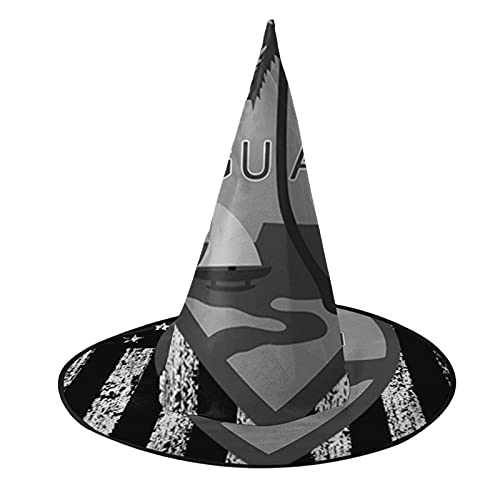Disfraz unisex de bruja de Halloween para fiesta, disfraz de EE. UU. Escudo de brazo de la bandera de Guam, accesorio de cosplay para niños y mujeres, color negro