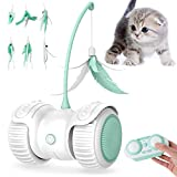 YIEZI Interactive Cat Toy for Indoor Cats, Remote Control and Self Playing Cat Toys for Kittens with USB Rechargeable, Colorful LED Wheels, Best playmate, Gift for Your Cat's Exercise and Fun