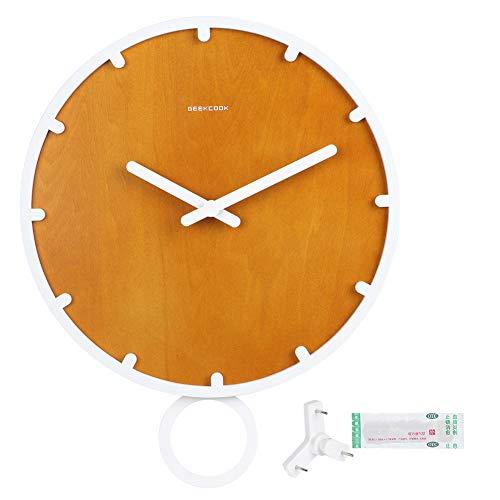 WAQU Reloj de Pared de Estilo Simple Reloj de péndulo de Madera Reloj Colgante de Pared Decoración de la Pared del hogar