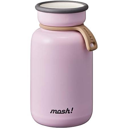 ドウシシャ(DOSHISHA) mosh!(モッシュ) ボトル ラッテ 真空断熱 マグボトル ピンク 330ml DMLB330PE
