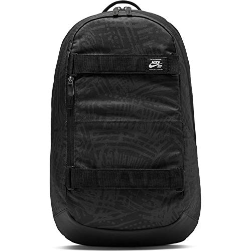 Nike Herren SB Courthouse Rucksack, Black/Black/White, One Size