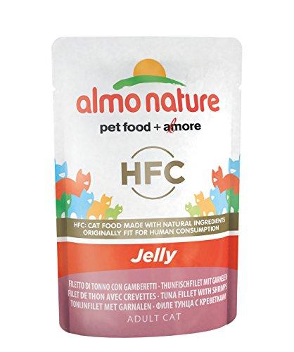 Almo Nature pâtée pour chat classique Jelly Pochette avec thon et crevettes (24x55g)