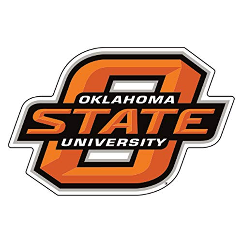 Craftique Oklahoma State Decal (ORG/BLK O-State Decal (3''4''6''12''), 3 in)