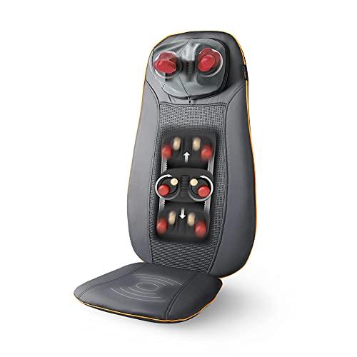 Medisana MCN Shiatsu Massageauflage, Massagesitzauflage mit 3 Massagezonen, Wärmefunktion, Rotlichtfunktion, Nackenmassage, für jeden Stuhl geeignet mit Fernbedienung