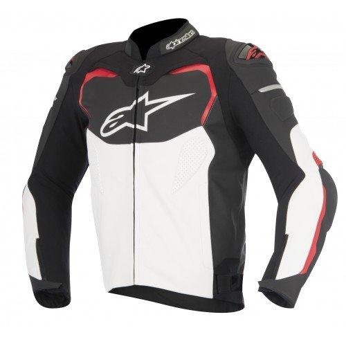 Alpinestars–cazadora moto GP Pro Cuir Negro Blanco Rojo–48