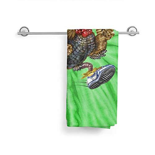 Gorgeous Socks Washcloth Microfiber Face Towels Turkey Running in Action Thanksgiving Tie-Dye Bath Towel Hotel & SPA Washcloths Bathroom Washcloth Towel 27.5x15.7in