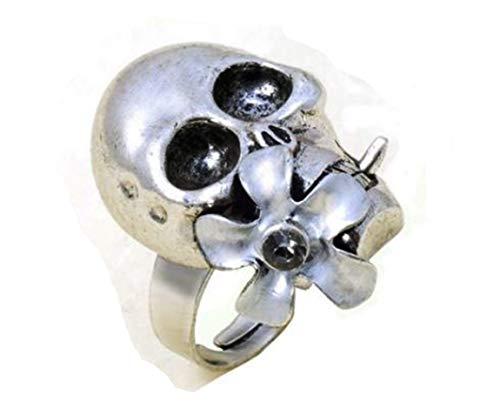 Gothic Skull Ring, verstelbaar unisex festival, bloem power