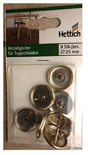 Metallgleiter für Teppichböden 8 St Durchmesser 25 mm Hettich