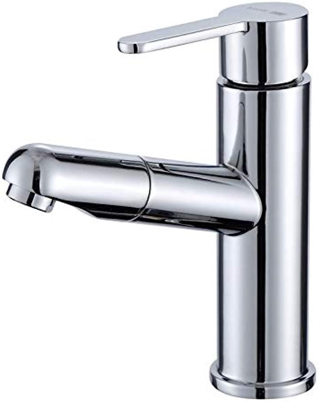 Kupfer Pull Becken Wasserhahn warm und kalt Becken Einlochmontage Waschbecken Wasserhahn waschbare Kopfverlngerung