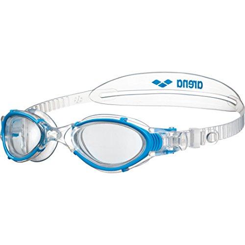 arena Damen Training Freizeit Schwimmbrille Nimesis Crystal (UV-Schutz, Anti-Fog Beschichtung, Weiche Gläser), Clear-Lightblue (17), One Size