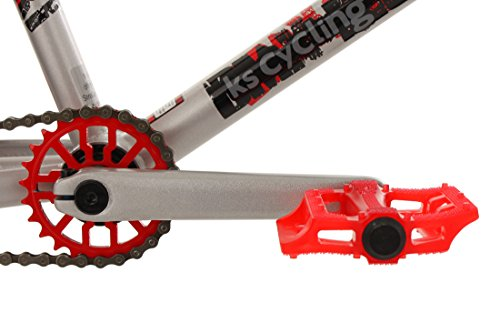 KS Cycling Fahrrad BMX Freesyle 20″ Twentyinch Silber-rot - 3