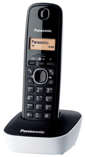Panasonic KX-TG1611 DECT Identificador de llamadas Negro, Color blanco - Teléfono (Teléfono DECT, Escritorio, Negro, Color blanco, 50 entradas, 1 líneas, Ámbar) [Versión Importada]