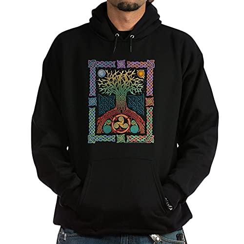CafePress Celtic Tree Of Life Hoodie (Dark) Pullover Hoodie, Classic & Comfortable Hooded Sweatshirt Black