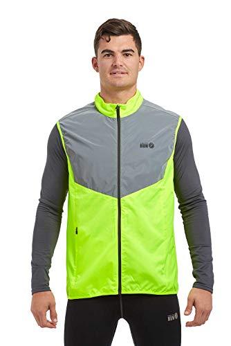 Time To Run Chaleco Deportivo Reflectante Ligero De Alta Visibilidad para Hombre, para Correr/Andar en Bicicleta/Caminar Chaleco Verde Lima M