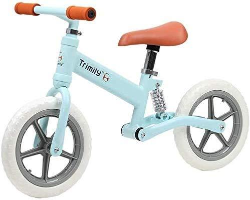 Amortiguador De Bicicletas De Balance De 12 Pulgadas Al Aire Libre, Sin Pedalear Bicicleta De Entrenamiento De Bicicleta De Balance De Balance, Scooter, Liviano De 2 A 6 Años De Edad, Uti(Color:Azul)