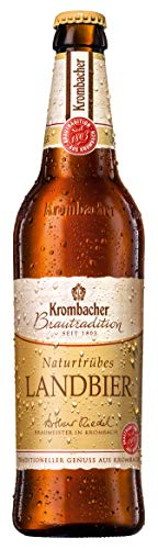 20 Flaschen a 0,5L Krombacher brautradition Landbier naturtrüb a 500ml inclusiv 1.80€ MEHRWEG Pfand Bier inc. Pfand 5,2% Vol.