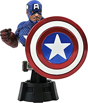 DIAMOND SELECT TOYS Marvel Comics  Captain America 1 7 Scale Resin Bust Multicolor 6 inches