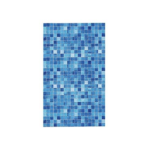 LINMAN LMH Azul Moderno Mosaico Autoadhesivo Papel Tapiz Rollo para baño Cocina Puerta Muebles PVC Impermeable película Parche Pegatina de Pared (Color : M)