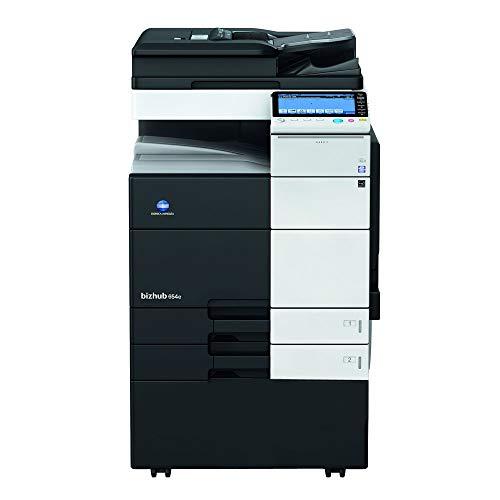 Read About Konica Minolta BizHub 654 Monochrome Multifunction Copier - 65ppm, Tabloid, Copy, Print, ...
